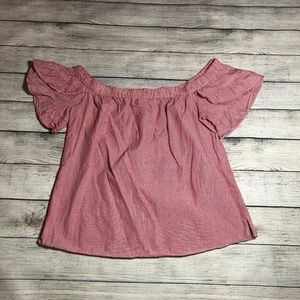 Socialite Off the Shoulder Striped Top Size M
